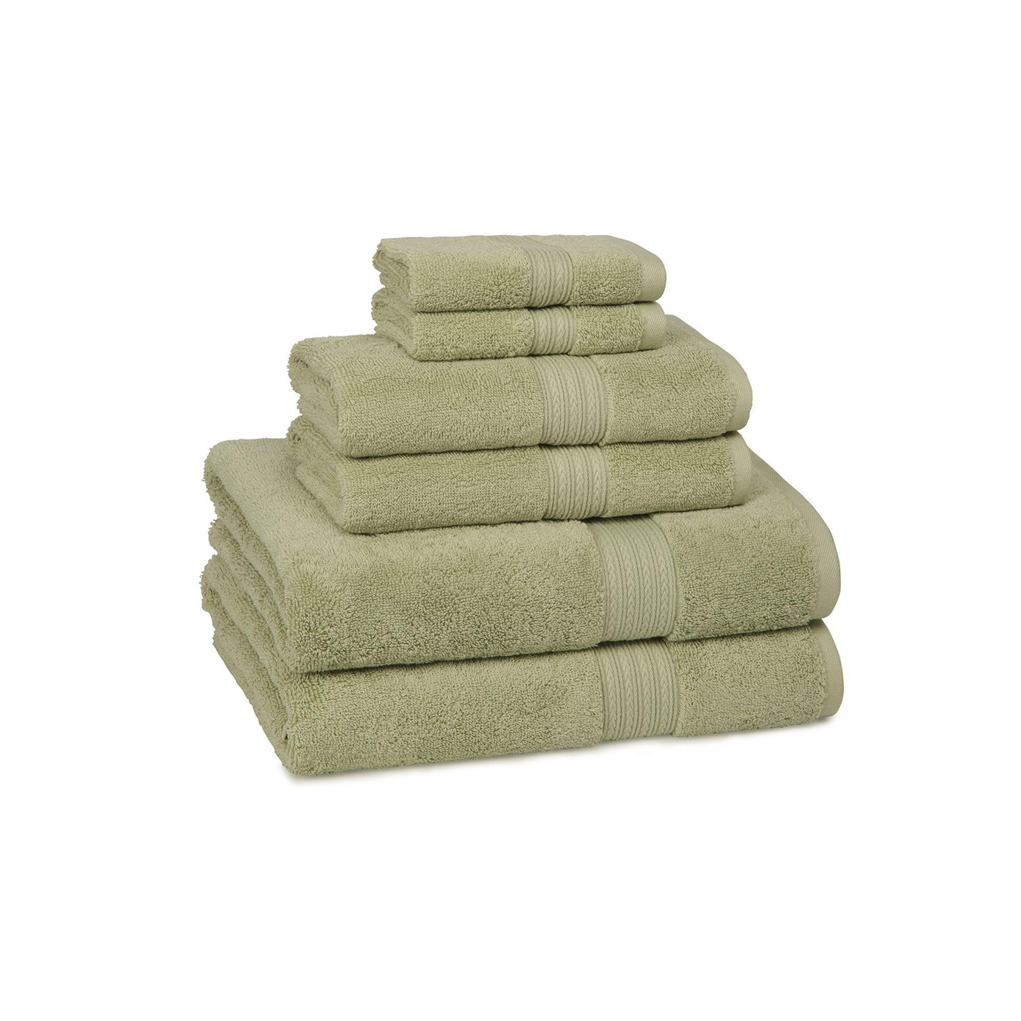 Cassadecor Signature Solid 6 Pc Bath Towel Set Egyptian Cotton