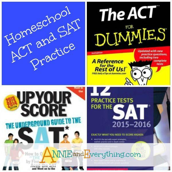 Homeschool Act And Sat Practice Homeschool Homeschool High School Homeschool Elementary