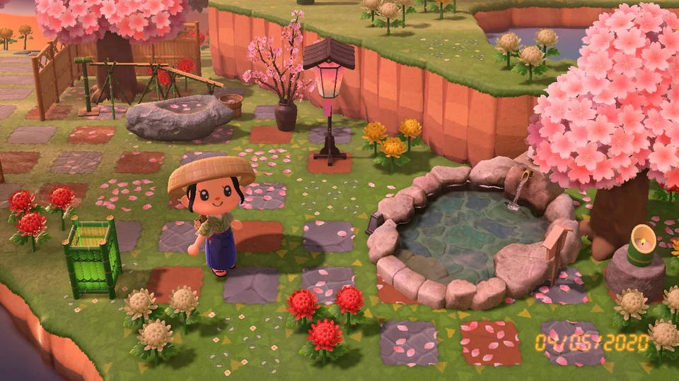 April Is The Perfect Time For Cherry Blossoms And Hot Springs Animalcrossing Spring Animals Animal Crossing Game Animal Crossing Guide