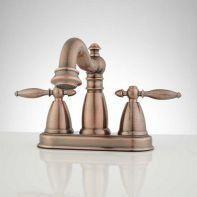 Photo of 49 Creative Possibilities Copper Bathroom Faucets Rustic Powder Rooms 36 #stonebathrooms …