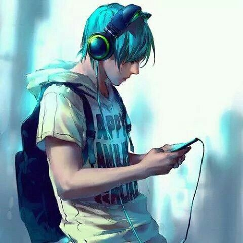 Ken Would Wear These Headphones Musik Anime Seniman Jalanan Gambar Serigala