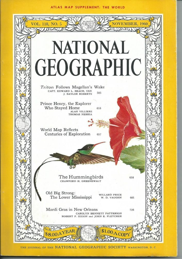 November 1960 national geographic magazine with map hummingbirds november 1960 national geographic magazine with map hummingbirds prince henry gumiabroncs Image collections