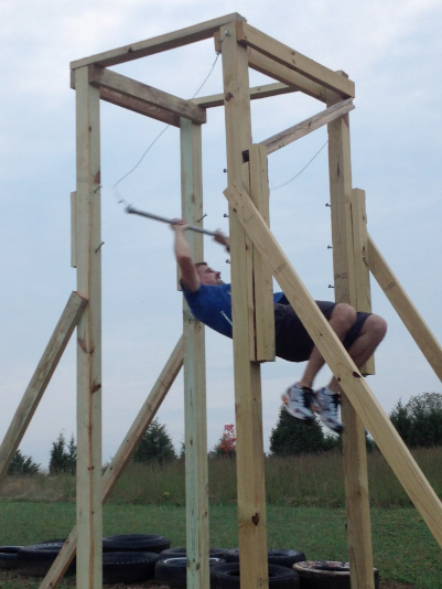 Double Salmon Ladder American Ninja Warrior Obstacles At