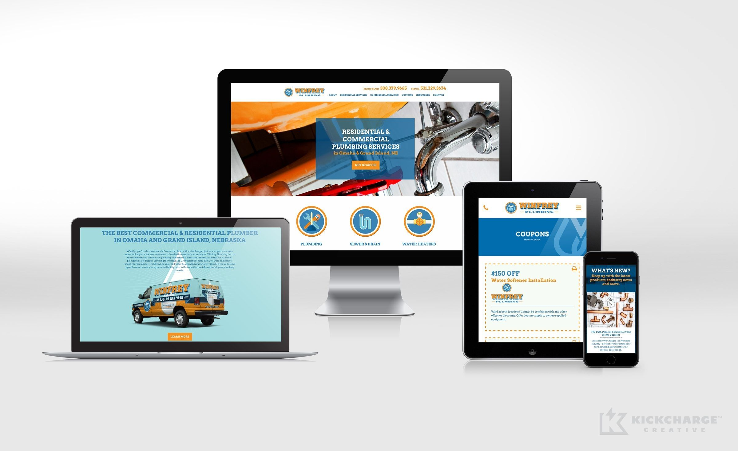 Website Design For Winfrey Plumbing Nj Advertising Agency Nj Ad Agency Nj Web Design Nj Logo Desi Portfolio Web Design Commercial Plumbing Brand Strategy