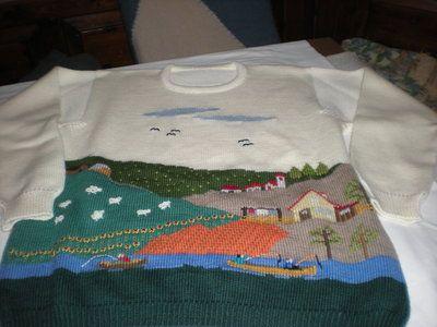 maglia paesaggio naif