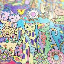 Image Result For Creative Haven Cats Coloring Book Pdf