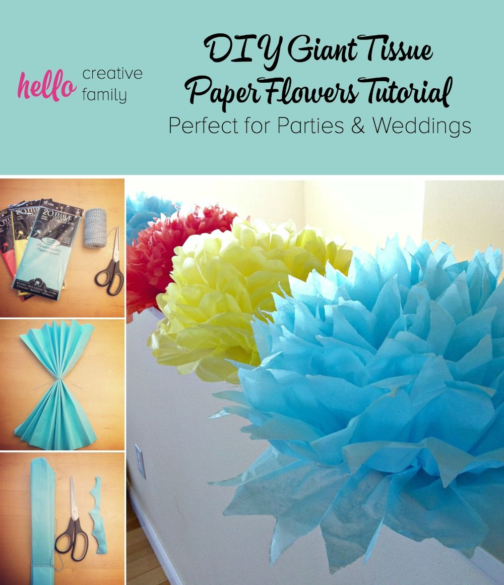 Tutorial How To Make Diy Giant Tissue Paper Flowers Want To Try