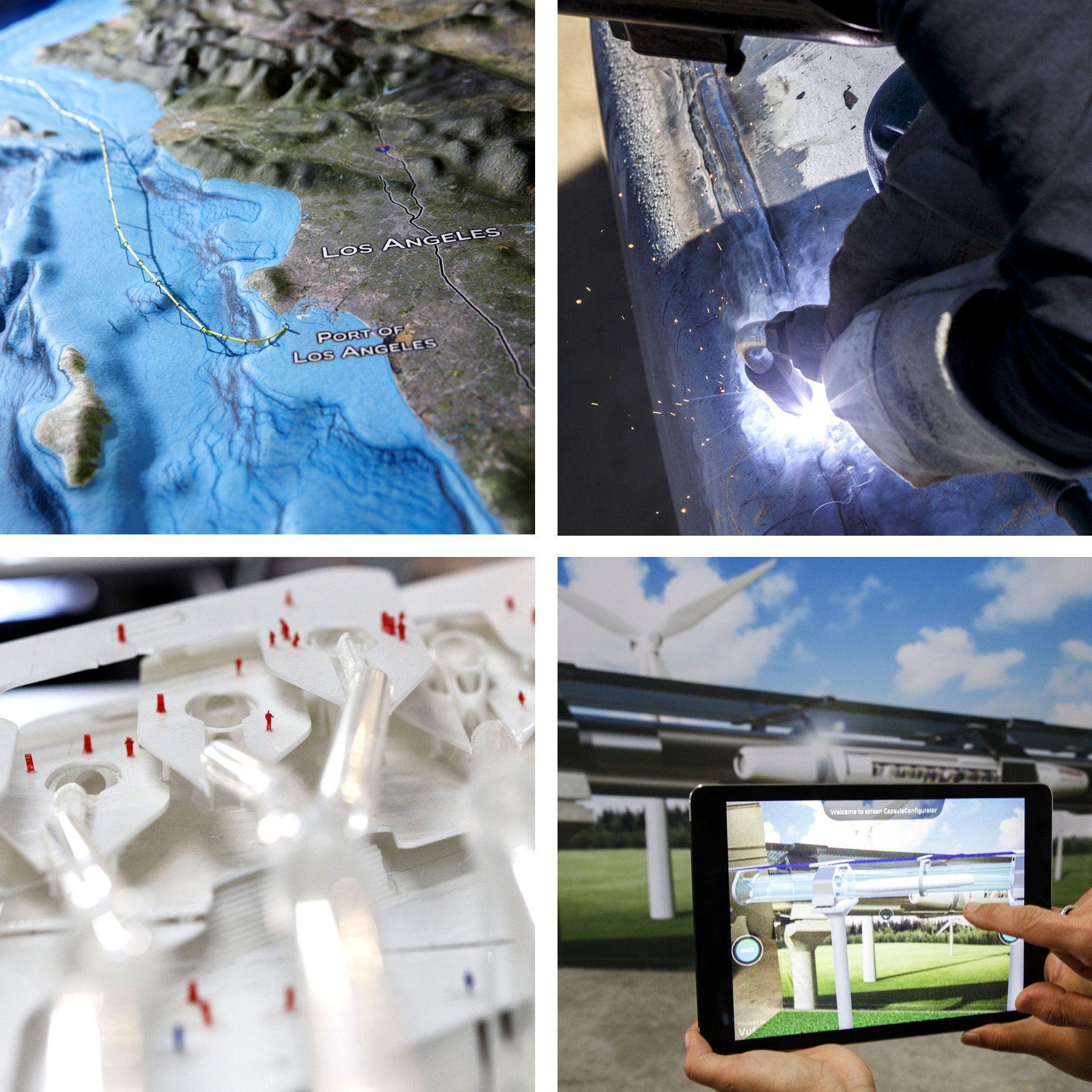 Hyperloop Race Picks Up Speed Tops Los Angeles And Welding - Los angeles route map