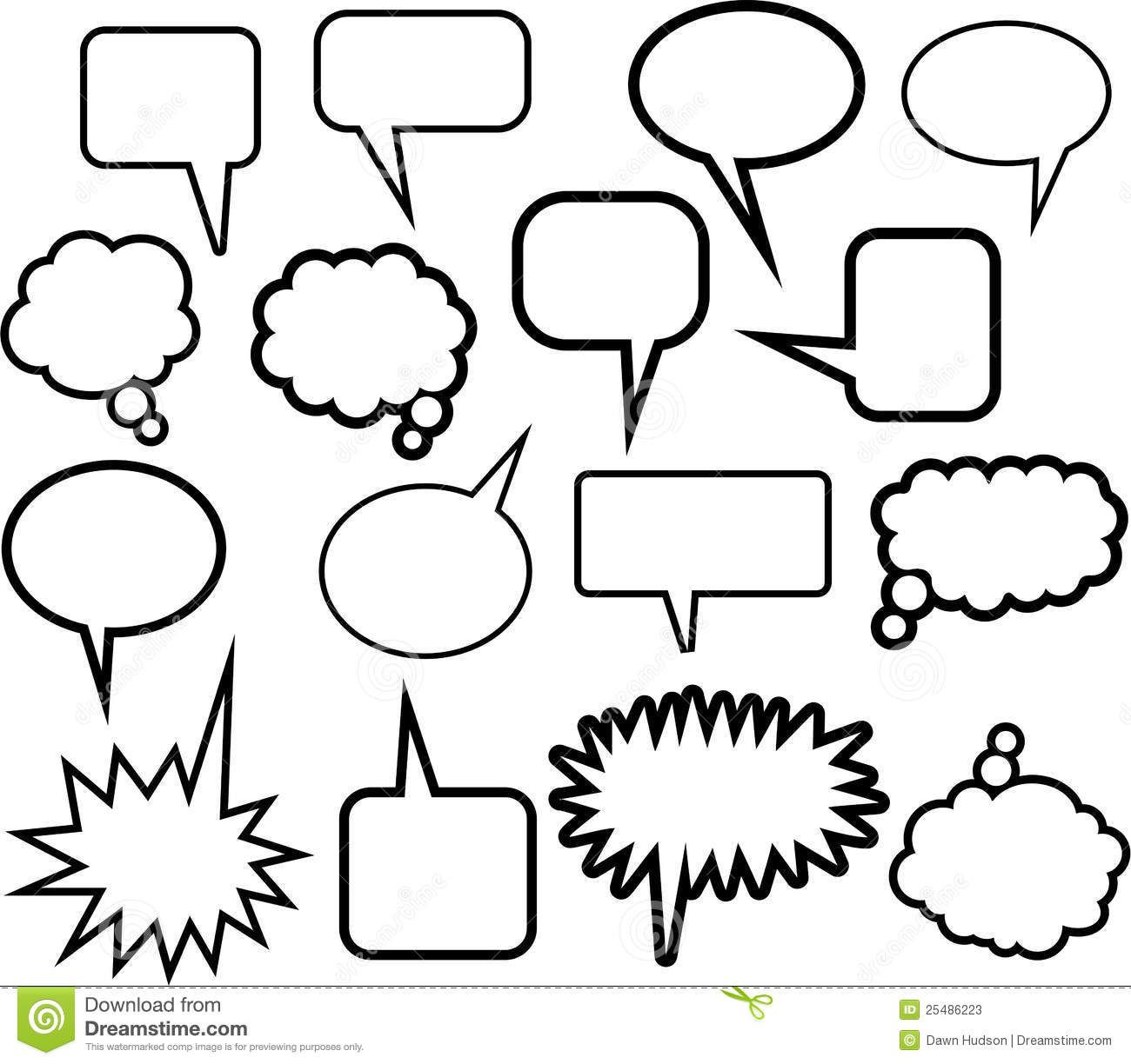 Word Balloon Icons Stock Vector
