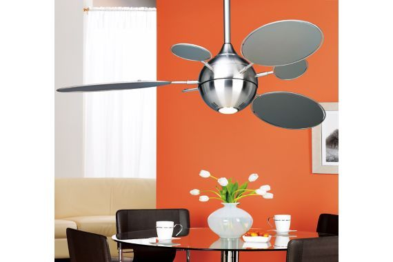 Minka aire cirque ceiling fan 54 brushed nickel lighting minka aire cirque ceiling fan 54 brushed nickel aloadofball Images