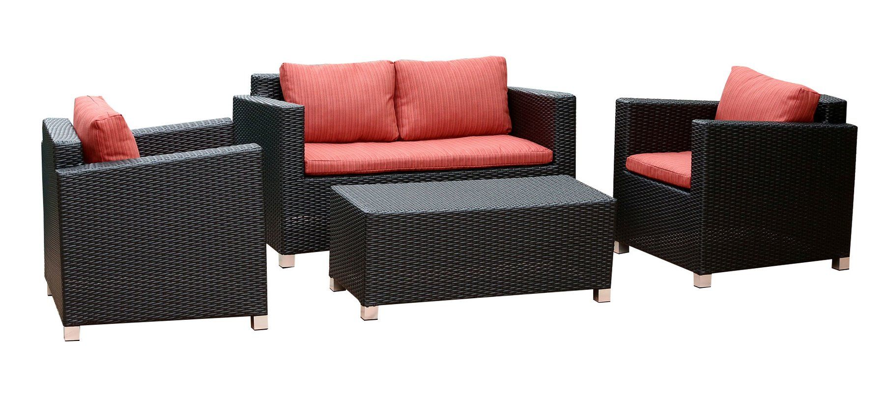Inredning teak utemöbler : You'll love the Weimar Outdoor Wicker Rattan 4 Piece Lounge ...