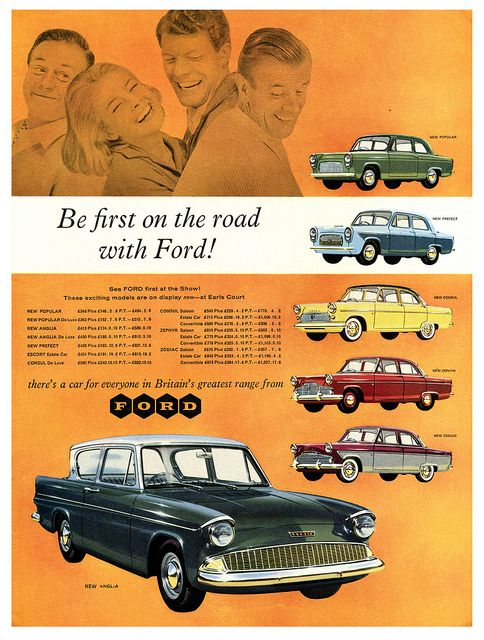 Ford model range advert from about For some reason the Escort estate car is not illustrated but is mentioned in the price list  sc 1 st  Pinterest & Thereu0027s A Ford For Everyone! | Ford Cars and Wheels markmcfarlin.com