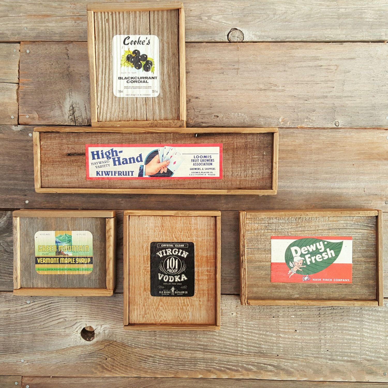 Rustic sign wall art home decor vintage label set kitchen