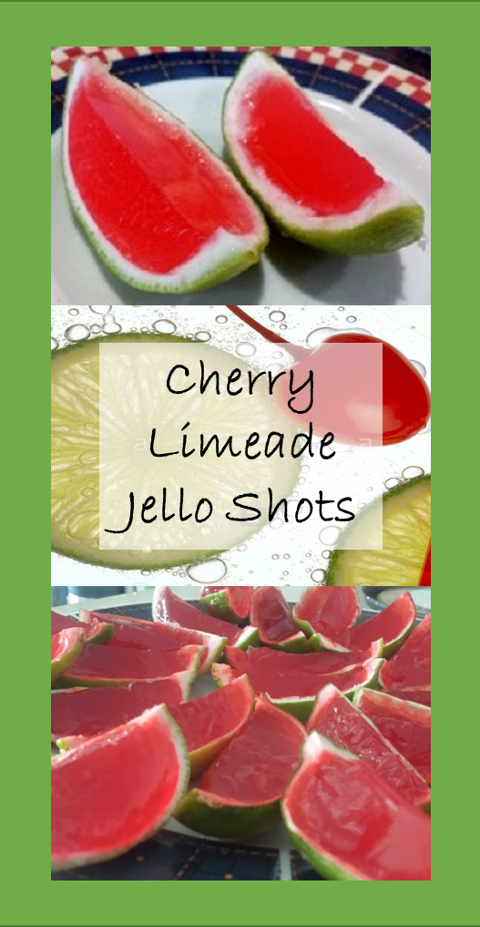 Cherry Limeade Jello Shots -  Classic flavors, perfect for  your next get-together. #jelloshots