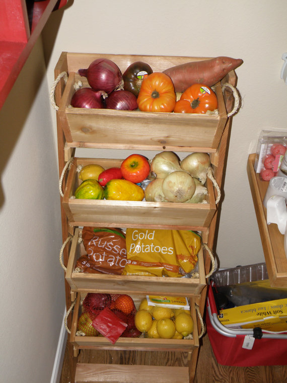 2 3 Or 4 Bin 16 Cedar Pantry Storage Kit For Potato S And Onions The Like Indoor Onion Closet