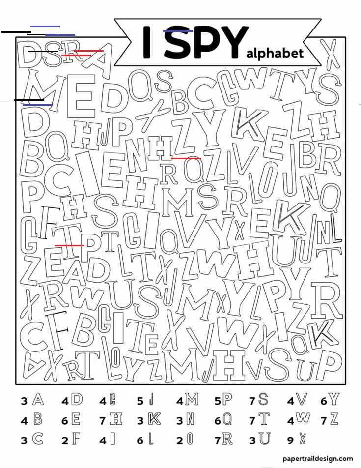 Free Printable Alphabet I Spy Game - Paper Trail Design Free Printable Alphabet I Spy Game. Use thi