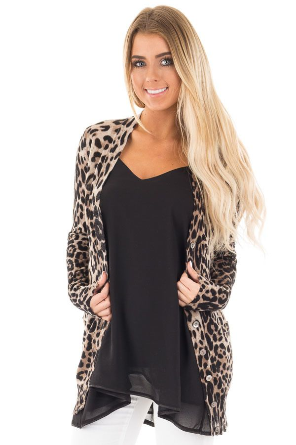 Leopard Print Long Cardigan | Long cardigan, Leopards and Clothing ...