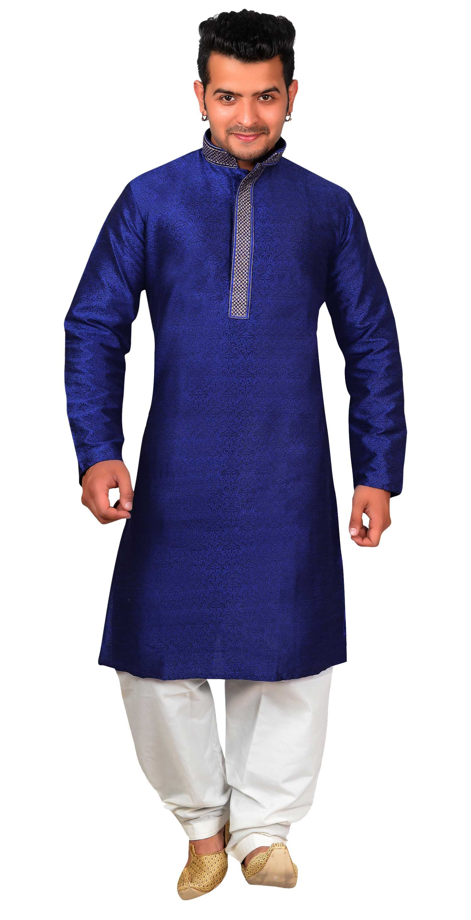 Men/'s Bollywood Kurta Shalwar Kameez Pyjama Sherwani wedding apparel 1827
