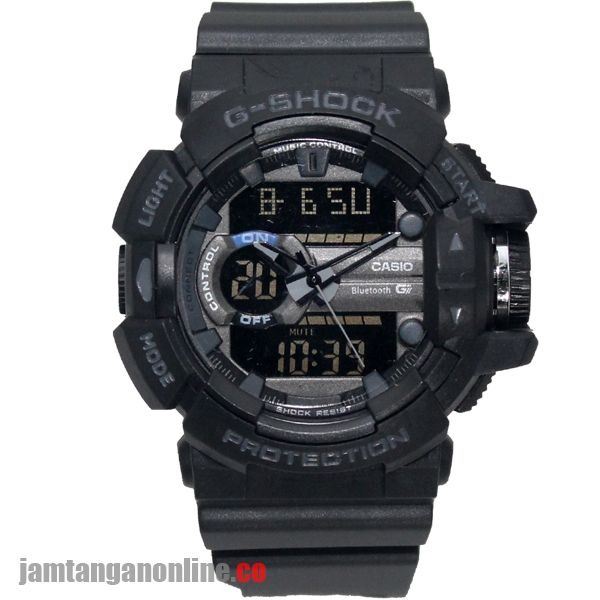 jam tangan pria g shock GA-400 dualtime kw hitam