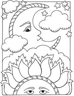 Welcome to Dover Publications Lets Color Together Sun Moon