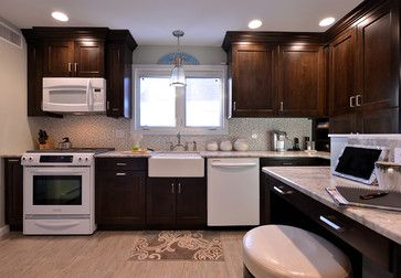 Cream Cabinets With White Appliances Good Looking 3 Kitchen