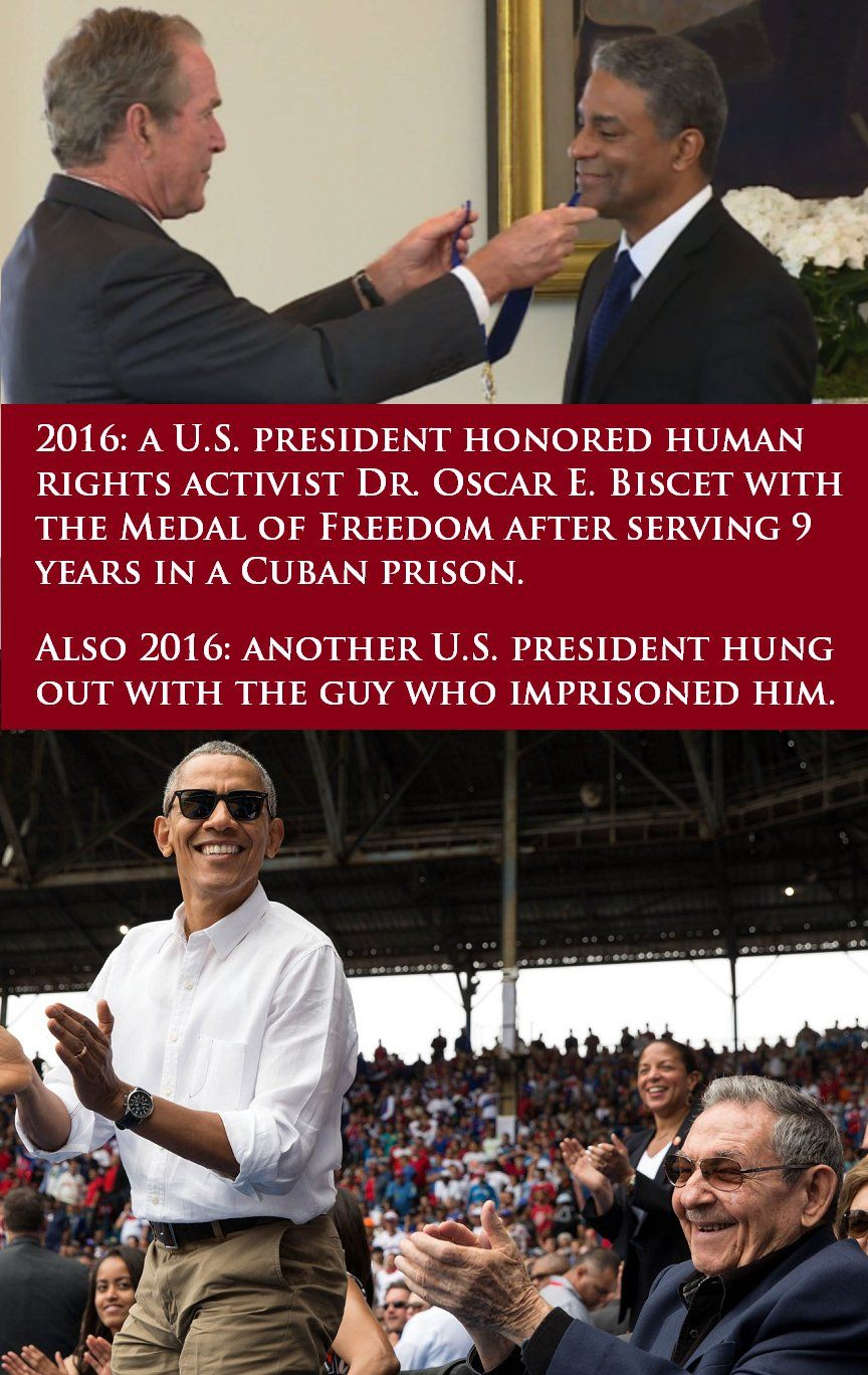 Meme Of The Day Cuba And The Difference Between Bush And Obama Babalu Blog Network Solutions Human Rights Activists Business Profile