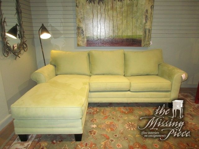 Cindy Crawford queen sleeper sofa with reversible chaise in a soft