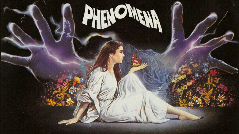 "Poster for Dario Argento's ""Phenomena,"" starring Jennifer Connelly."