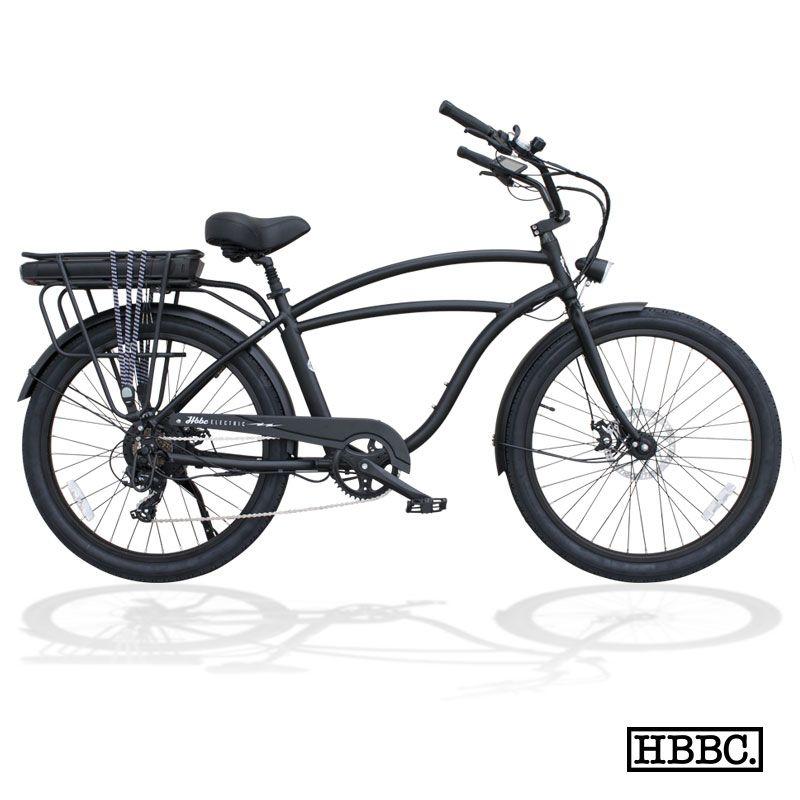 Hbbc electric flat black huntington beach bicycle