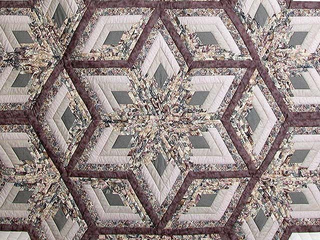 Diamond Log Cabin Patterns Free | Diamond Log Cabin Star Quilt    Great  Adeptly Made
