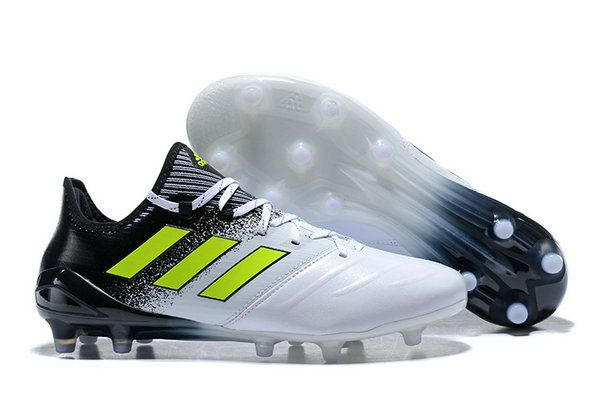 buy popular e4155 ddf31 Adidas Ace 17 1 Leather Fg Football Boots White Solar Yellow Core Black  Real Sneaker