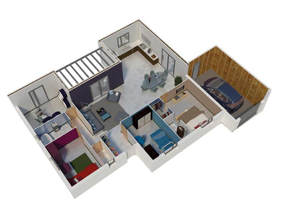 Maison Toit Plat Plan
