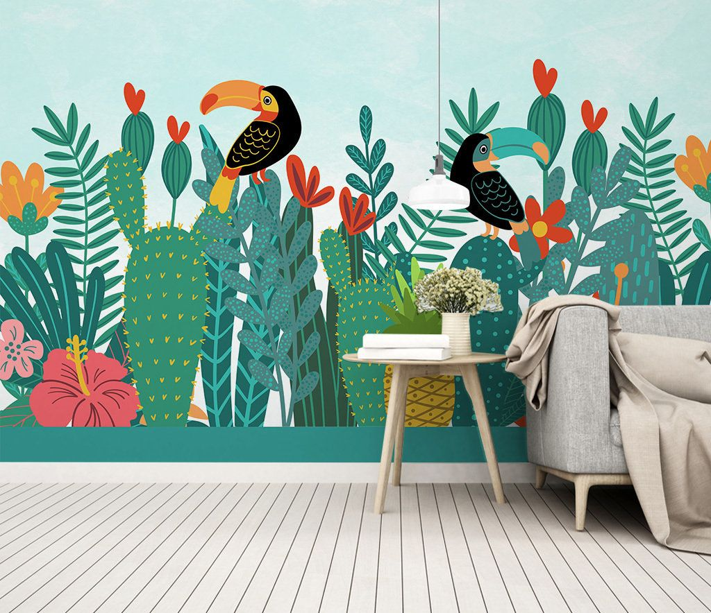Tropical Forest Toucan Exotic Bird Wallpaper Self