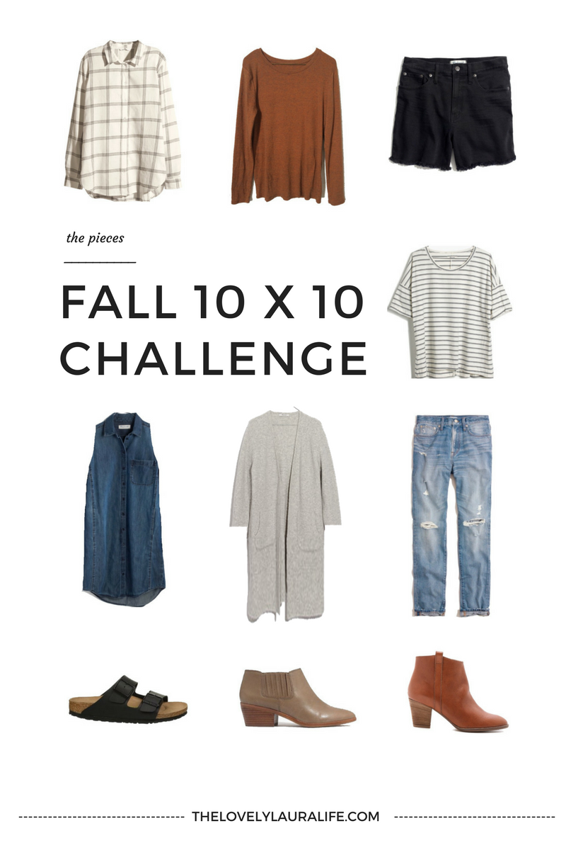 Fall 10x10 Challenge Via Thelovelylauralife Com Fall Capsule Wardrobe Stylish Fall Outfits 10 Piece Capsule Wardrobe