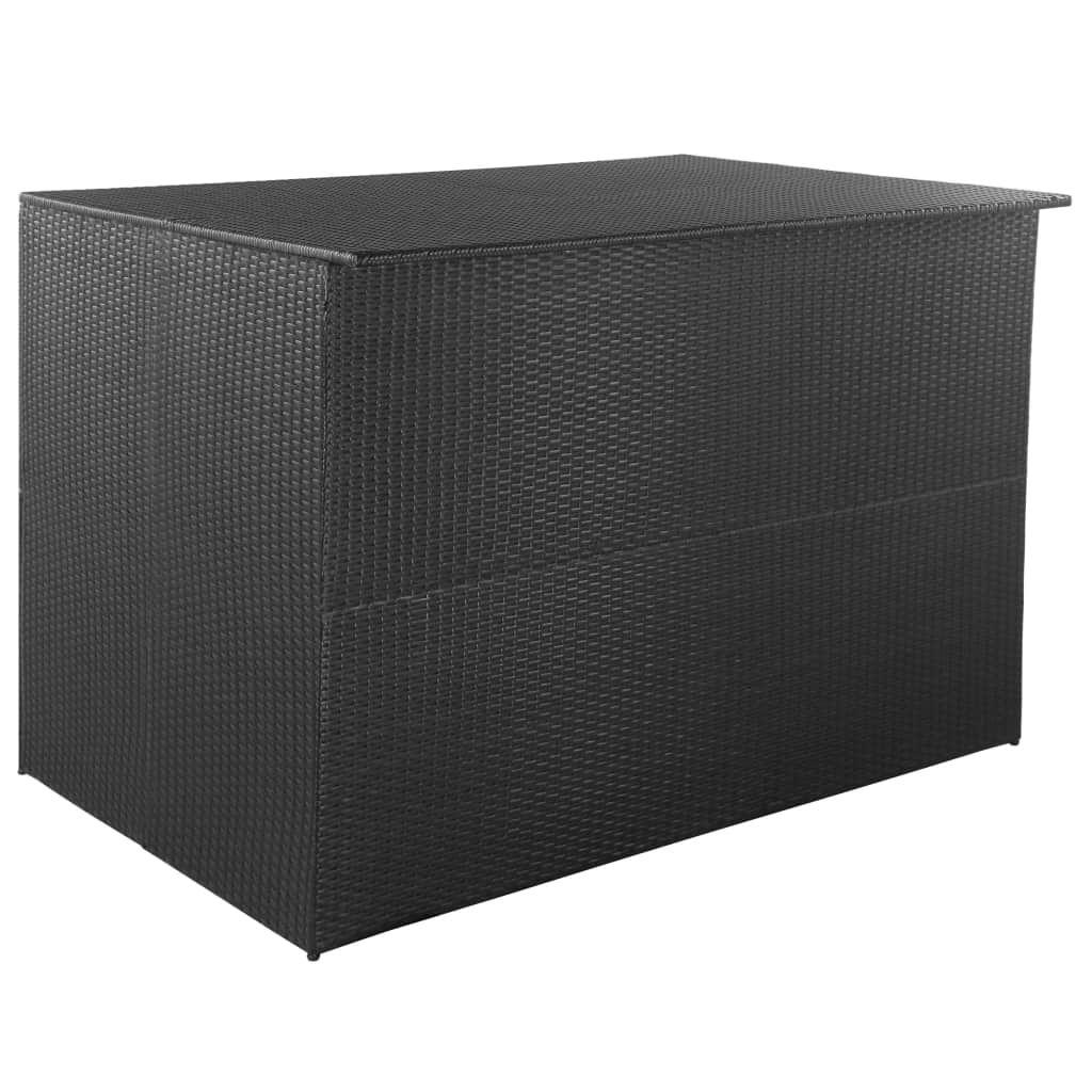 Vidaxl Skrzynia Ogrodowa Czarna 150 X 100 X 100 Cm Rattan Pe Outdoor Storage Box Garden Storage Outdoor Storage