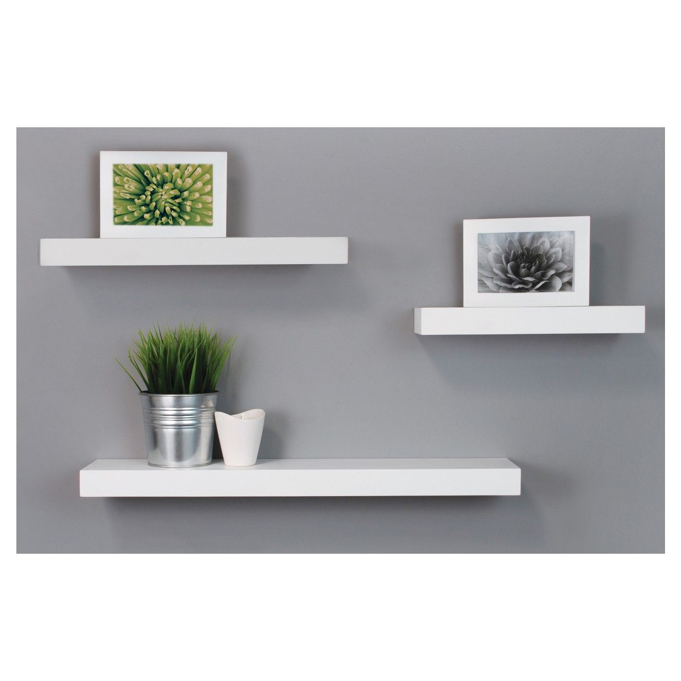 3pc Decorative Wall Ledge Shelf Set White Nexxt Modern