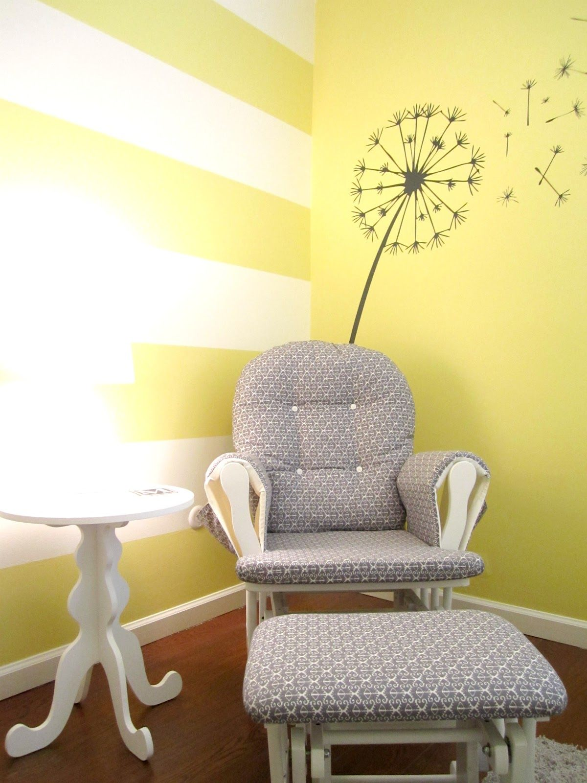 the heart of life}: grey dandelion wall vinyl graphic in yellow and ...