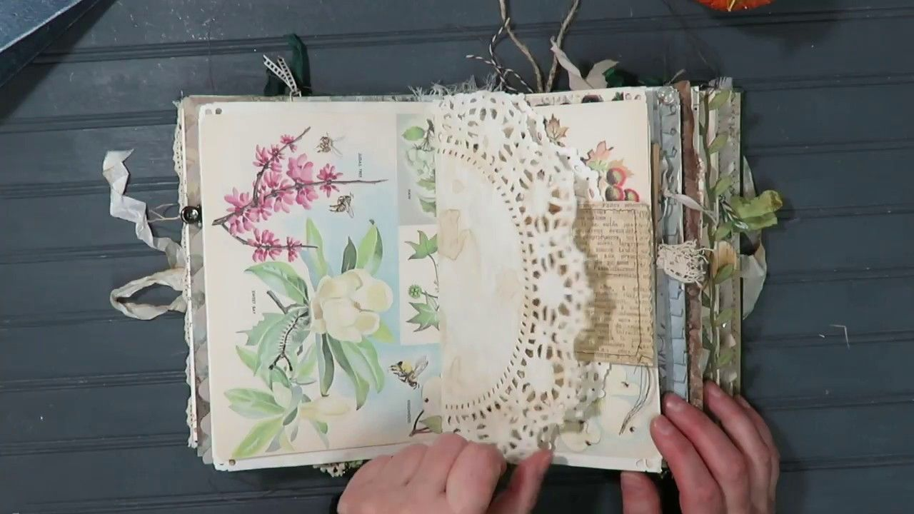 Nature Theme Junk Journal Tome Flip Through Sold Altered Book Art Junk Journal Art Journaling Supplies