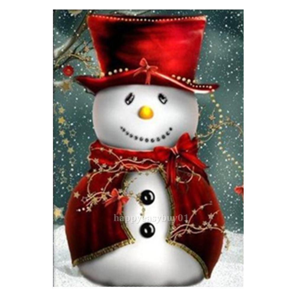 Cute Snowman DIY 5D Diamond Painting Embroidery Cross Stitch Home Decor Craft