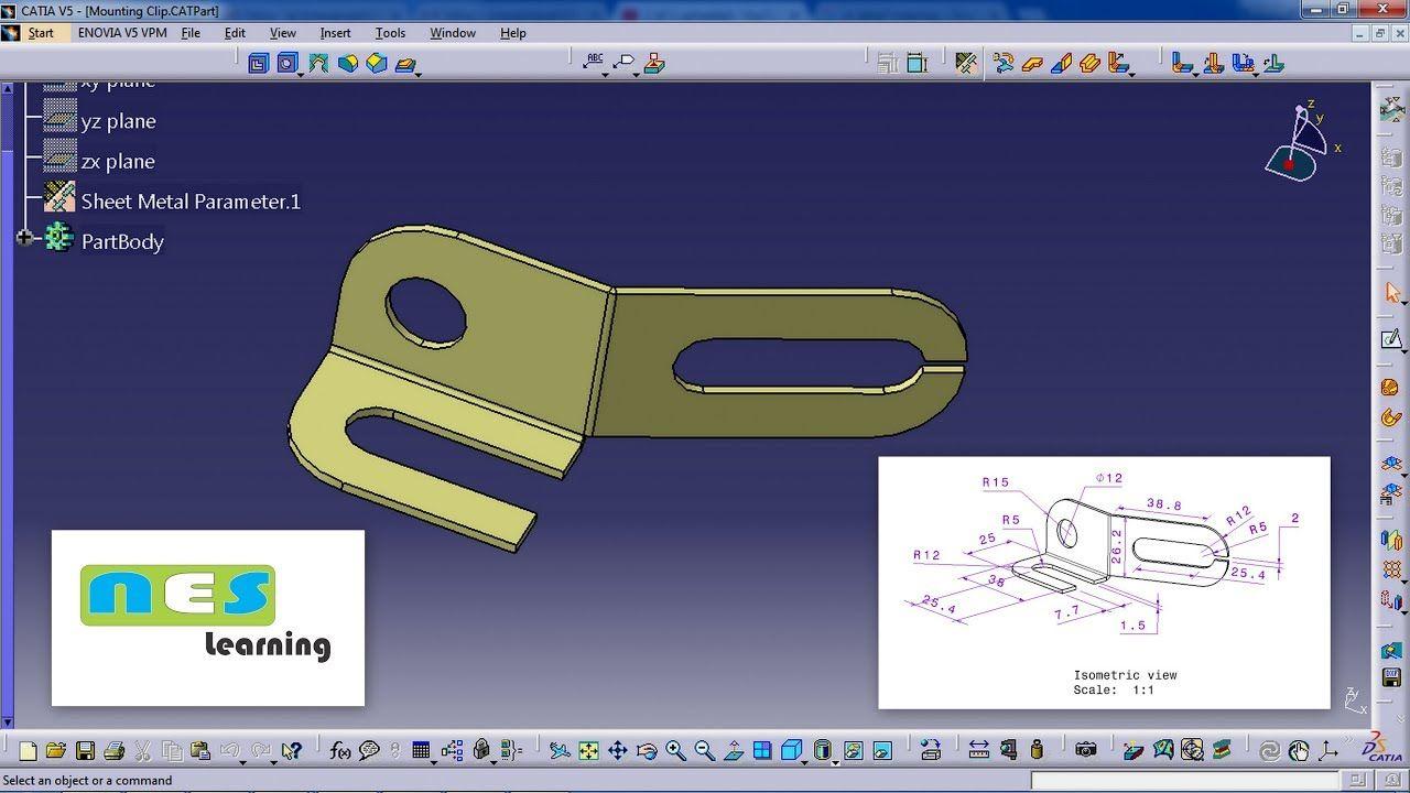 CATIA V5/V6 Tutorial |sheet Metal design and Manufacturing in detail