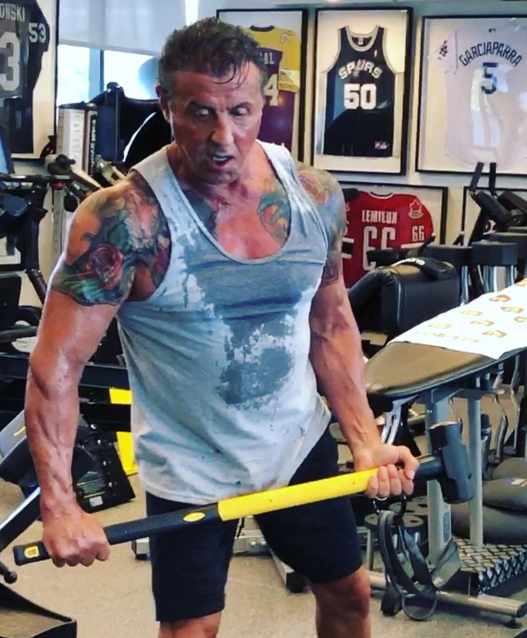 """843f6dc8 Sly Stallone on Instagram: """"All these celebrities talk about how HARD they  work out and how early they have to get up and how they have to sacrifice."""