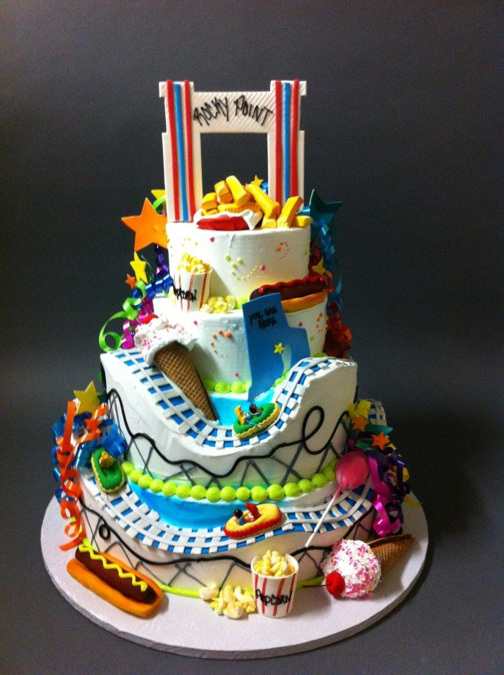 Rocky Point Park cake. By LaSalle Bakery Roller coaster
