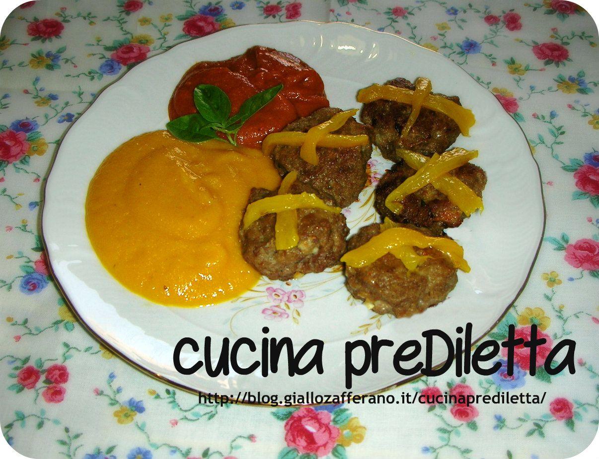 Polpette in salsa di peperoni,ricetta facile