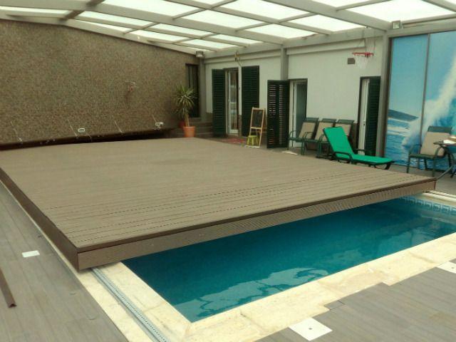 La cubierta plana de piscina cobercat es una plataforma de for Estructura para piscina