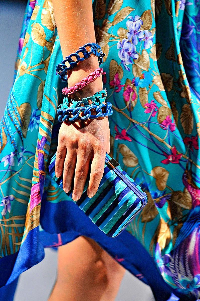 salvatore-ferragamo-blue rectangular-clutch-2012 summer spring collection