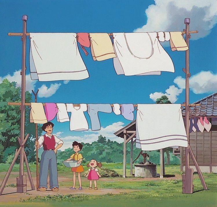 洗濯もの となりのトトロ トトロ サツキとメイの家 サツキとメイ 洗濯もの 空 ジブリ スタジオジブリ ジブリ好き ジブリ好きな人と繋がりたい ジブラーさんと繋がりたい さつき めい スタジオジブリ ジブリ トトロ