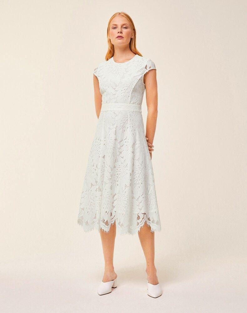 IVY & OAK Spitzenkleid Damen, Weiß, Größe 34 #asymmetrischerschnitt IVY & OAK Spitzenkleid Damen, Weiß, Größe 34 #asymmetrischerschnitt