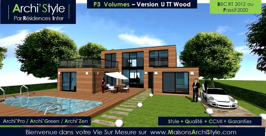 Project-3-Volumes-07-Maisons-ArchiStyle-U-TT-Design-Moderne-Toit