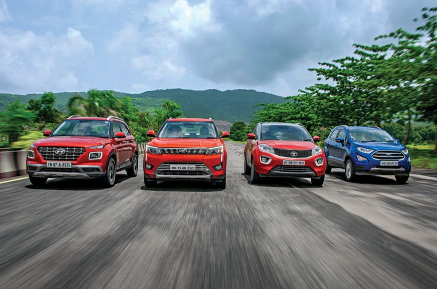 Review Venue Vs Xuv300 Vs Nexon Vs Ecosport Comparison Ford