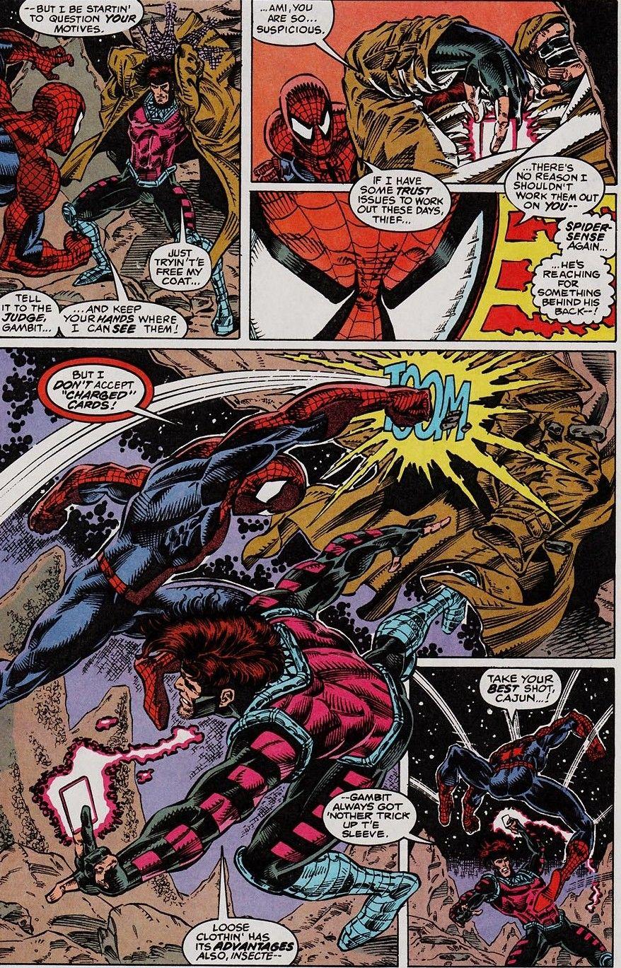 spider man vs gambit web of shadows 113 alex saviuk pinterest